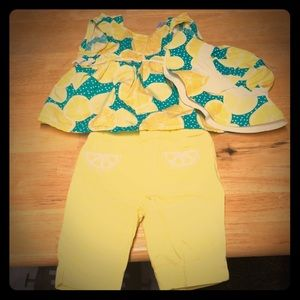 Gymboree 12-18 months Lemon print - Tank & capris
